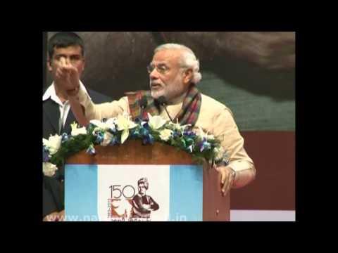 Narendra Modi addressing Closing Ceremony of Swami Vivekanand's 150th Birth Anniversary Celebration