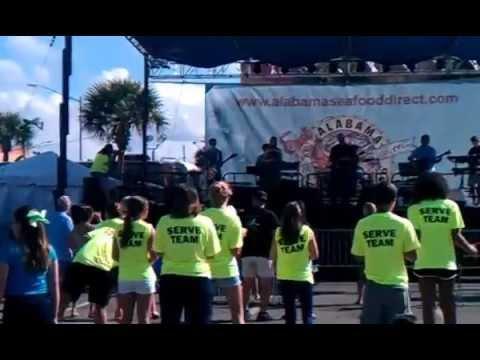 Teens Worshiping God  @Shrimp festival