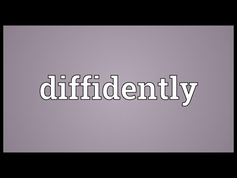 Header of diffidently