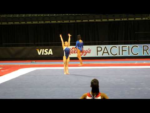 Katelyn Ohashi - Floor Exercise - 2012 Kellogg&#039;s Pacific Rim Championships Podium Training