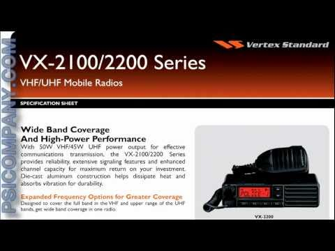 Vertex Standard VX-2100 Mobile Radio: An Overview