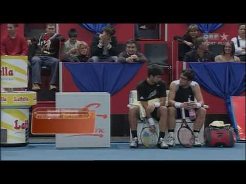 Novak Djokovic vs Janko Tipsarevic St. Anton 08 - Exhibition Match Video