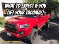 What To Expect If You Lift Your Tacoma!