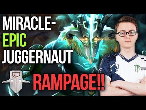 Miracle- Juggernaut EPIC Rampage Farming Machine Gameplay Highlights - Dota 2