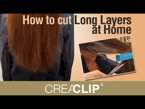 How to cut Long Layers at Home - CreaClip live video Vol 7 - Redwood California