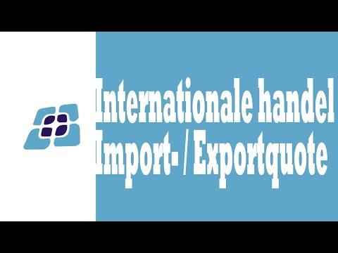 H8 - Internationale handel: Import-/Exportquote