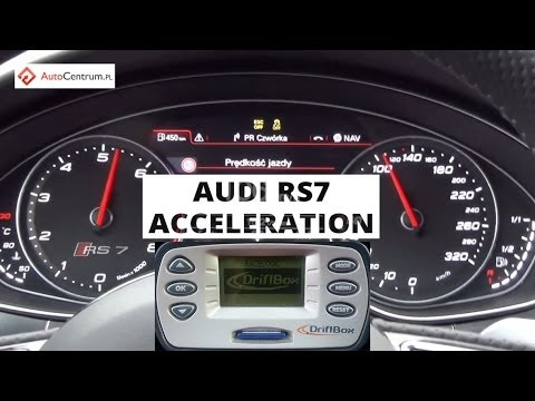 Audi RS7 Sportback V8 4.0 TFSI 560 PS - acceleration 0-100 km/h