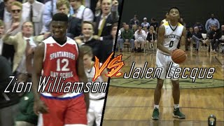 Jalen Lecque vs Zion Williamson! THRILLING Season Opener!!! Top Prospects in The Country!!!