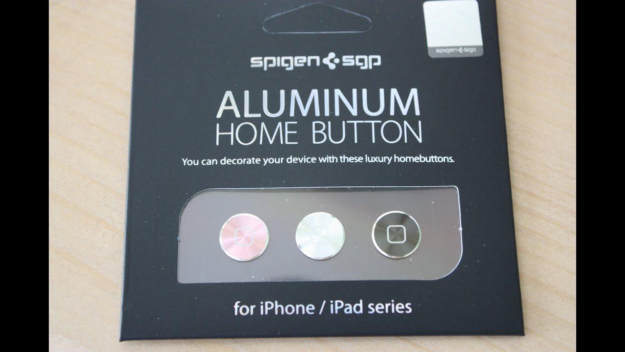 SPIGEN SGP Aluminum Home Buttons for iPhone, iPad, iPod Touch Review ...