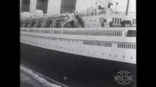 British Movietone News: RMS Queen Mary: Britain´s super ship has great send-off on maiden voyage
