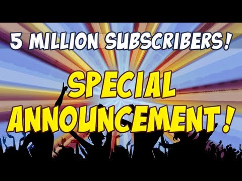 5 Million Subs - Special Announcement!