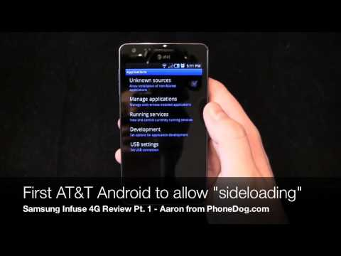 Samsung Infuse 4G Review Part 1