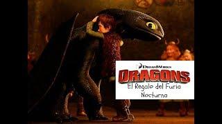 El regalo del furia nocturna de Como Entrenar a tu Dragón (castellano)