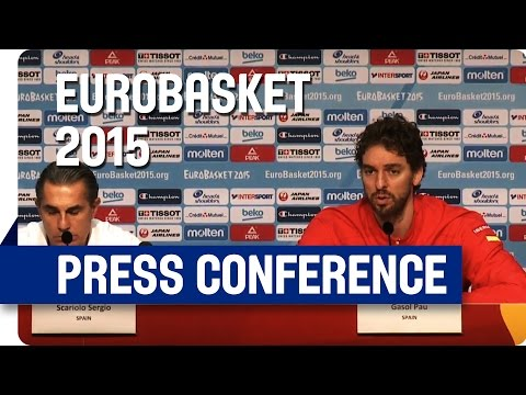 Spain v France - Post Game Press Conference - Re-Live - Eurobasket 2015
