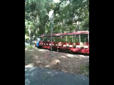 Train in Brackenridge Park