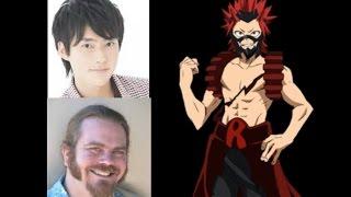 Anime Voice Comparison- Eijiro Kirishima (My Hero Academia)
