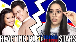 REACTING TO FILIPINO STARS  from Emily Rios