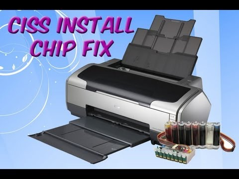 Ciss Kit For Epson R1800 Printer Reset Chip Fix R1400 R800 R2400