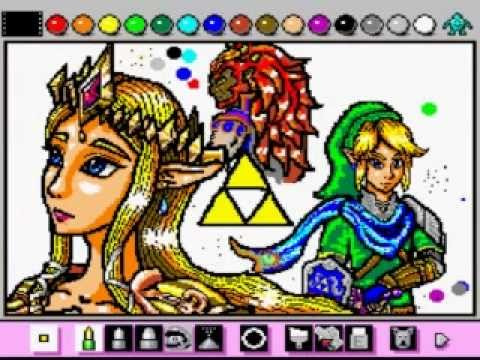Mario Paint - Oct 14 Contest (Zelda/Link): Sacred Fates - User video