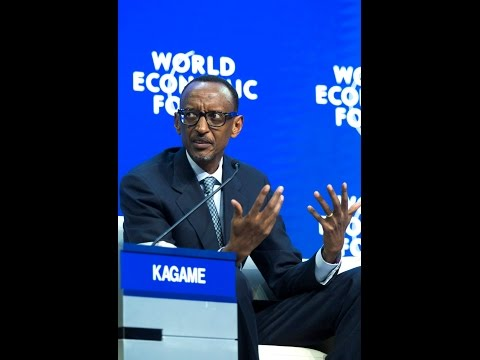 President Kagame Speaks at Climate Change panel at World Economic Forum - Davos, 23 January 2014