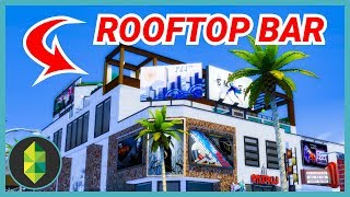 LA STYLE ROOFTOP BAR (Sims 4 Build)