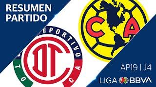 Resumen y Gol | Toluca vs América | Liga BBVA MX - Apertura 2019 - Jornada 4