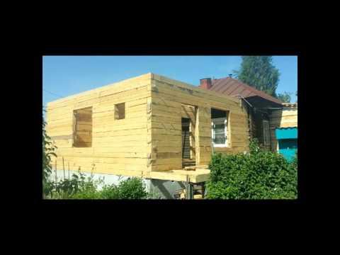Как сделать пристройку из бруса к деревянному дому своими руками 31