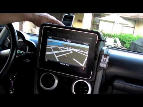 Ipad Dash Mounted In 09 Wrangler Youtube