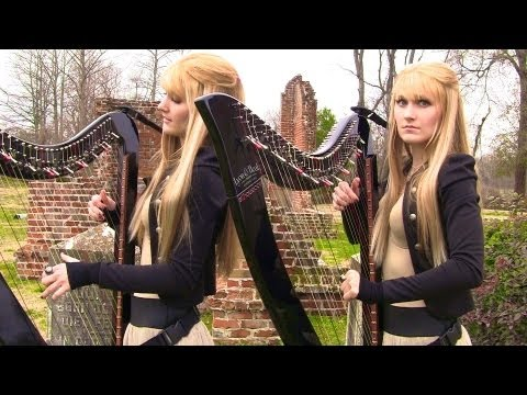 ZOMBIE - The Cranberries (Harp Twins electric) Camille and Kennerly