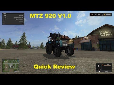 FS17 - MTZ 920 V1.0 - Mod Review -