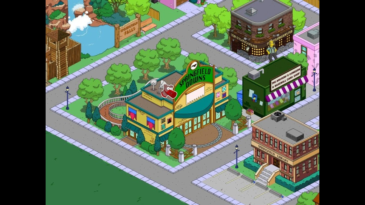 The Simpsons: Tapped Out Downs Race Track - YouTube