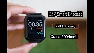 B57 Smartwatch Blood pressure and heart rate for ios and android 300rban!!