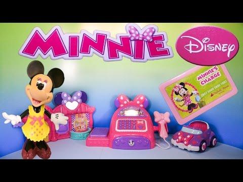 MINNIE MOUSE Disney Junior Minnie's Bowtique Cash Register YouTube Toy Review