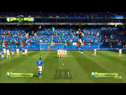 2014 FIFA World Cup Brazil - Italy vs Uruguay Gameplay [HD]
