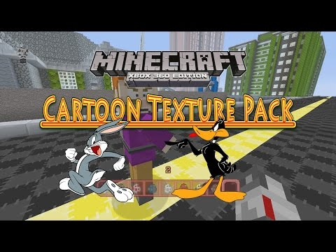 Minecraft Xbox 360 Cartoon Texture Pack Review