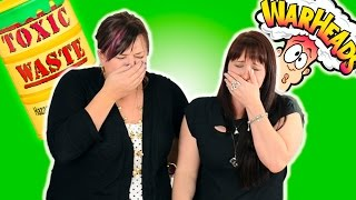 Sour Candy Challenge (Toxic Waste Challenge & Warheads Challenge) from Cookies Cupcakes and Cardio