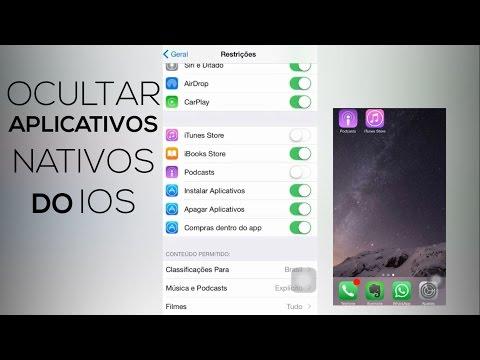 Ocultar aplicativos nativos do iOS