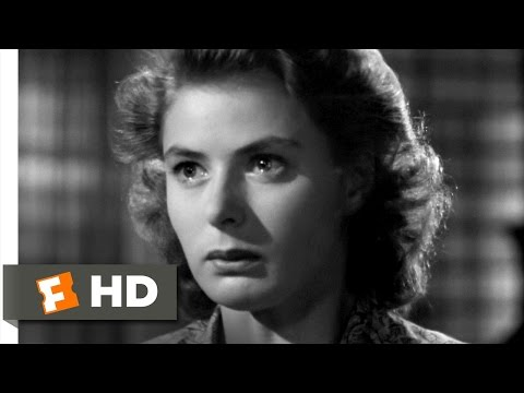 Casablanca Movie Clip - watch all clips http://j.mp/yTvqAI Buy Movie: http://j.mp/t3JhbO click to subscribe http://j.mp/sNDUs5 Ilsa (Ingrid Bergman) pulls a ...
