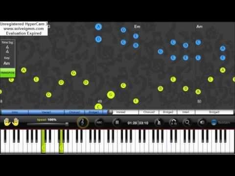 Big Time Rush - Windows Down Piano (solo) video