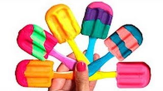 Play Doh Rainbow Ice Creams Play Dough Popsicles Play-Doh Scoops 'n Treats Play Food Toy Videos