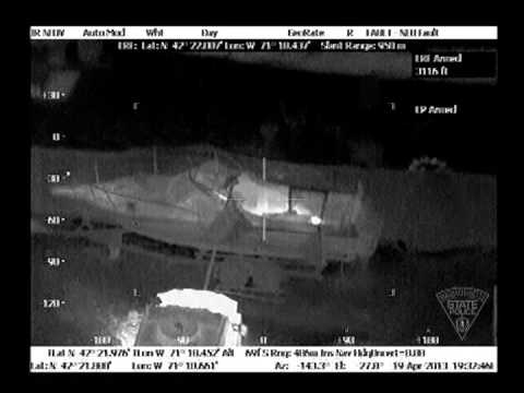 Amazing Technology - Police released video of Thermal Images from Boston Helicopter before suspect #