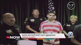 Austin Harrouff brief court appearance