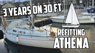Sail Life - 3 years as a liveaboard on 30 ft & winter projects - DIY sailboat repair