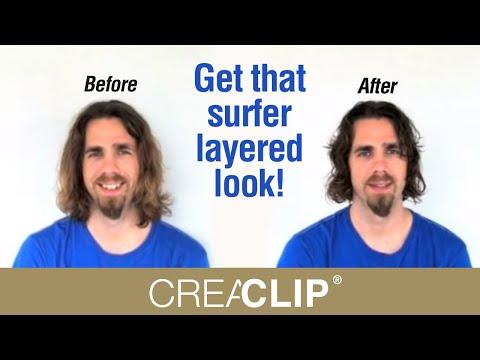 How To Cut Men S Layer Haircut Long Hair Get That Surfer