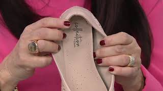 Clarks Collection Perforated Slip-On Flats - Danelly Art on QVC