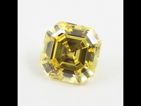 Diamond Quality Yellow Color Asscher Cut Cubic Zirconia Loose CZ Stones Wholesale China