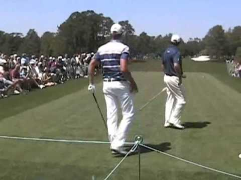 Masters 2011 Practice Round Pt 2 - Mark O'Meara, Lee Westwood, Molinari Brothers golf swings