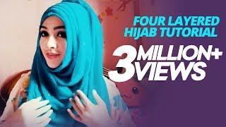Four layered Hijab tutorial for fall