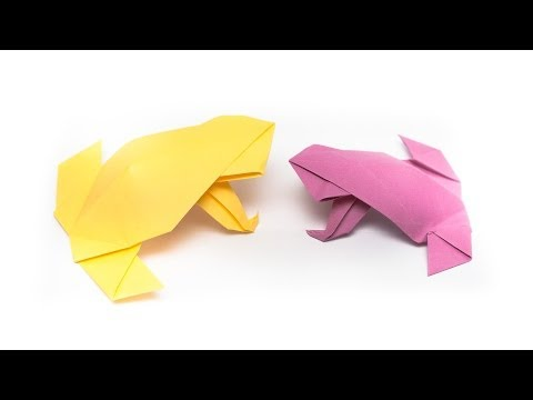 วิธีการพับกระดาษเป็นกบสไตล�