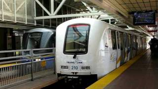 Skytrain arrive and depart King George station